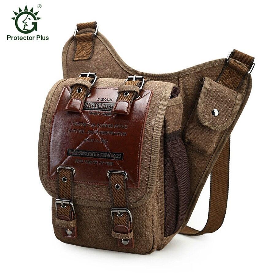 цена на Vintage Canvas Men Crossbody Bag Outdoor Hiking Camping Men Messenger Bags Sport Shcool Men Shoulder Bag MIlitary Tactical Bag
