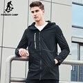 Pioneer camp nueva primavera marca de moda chaqueta de los hombres rompevientos con capucha abrigo masculino de calidad superior outwear casual hombres ajk707003