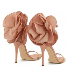 Sandals Designer Dress-Shoes Flower-Decor High-Heel Party Pink Evening Formal Black Lady