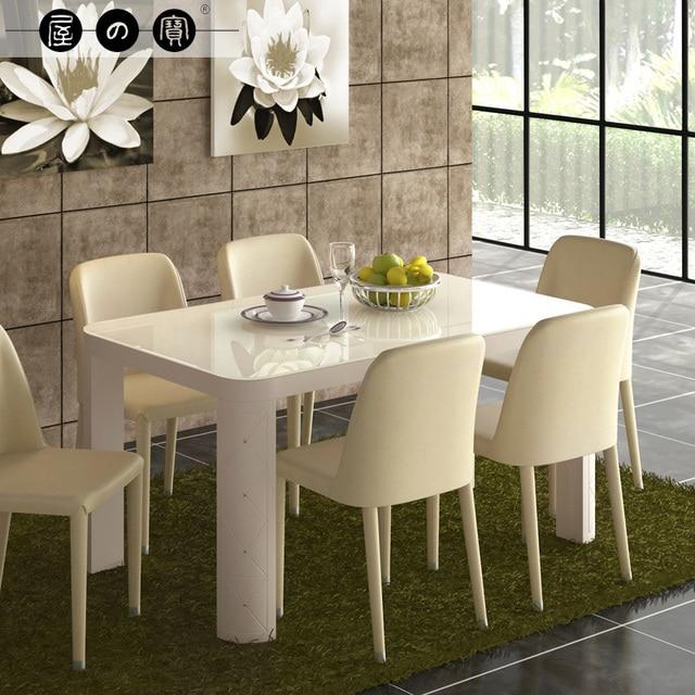 Tesoro rectangular mesa de comedor cristal para comer pequeño ...