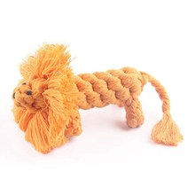Dogs Durable Non-toxic Molar Toys Woven Lions Shape Pet Cotton Rope Chew Toy for Solving Boredom Cleaning Teeth(China)