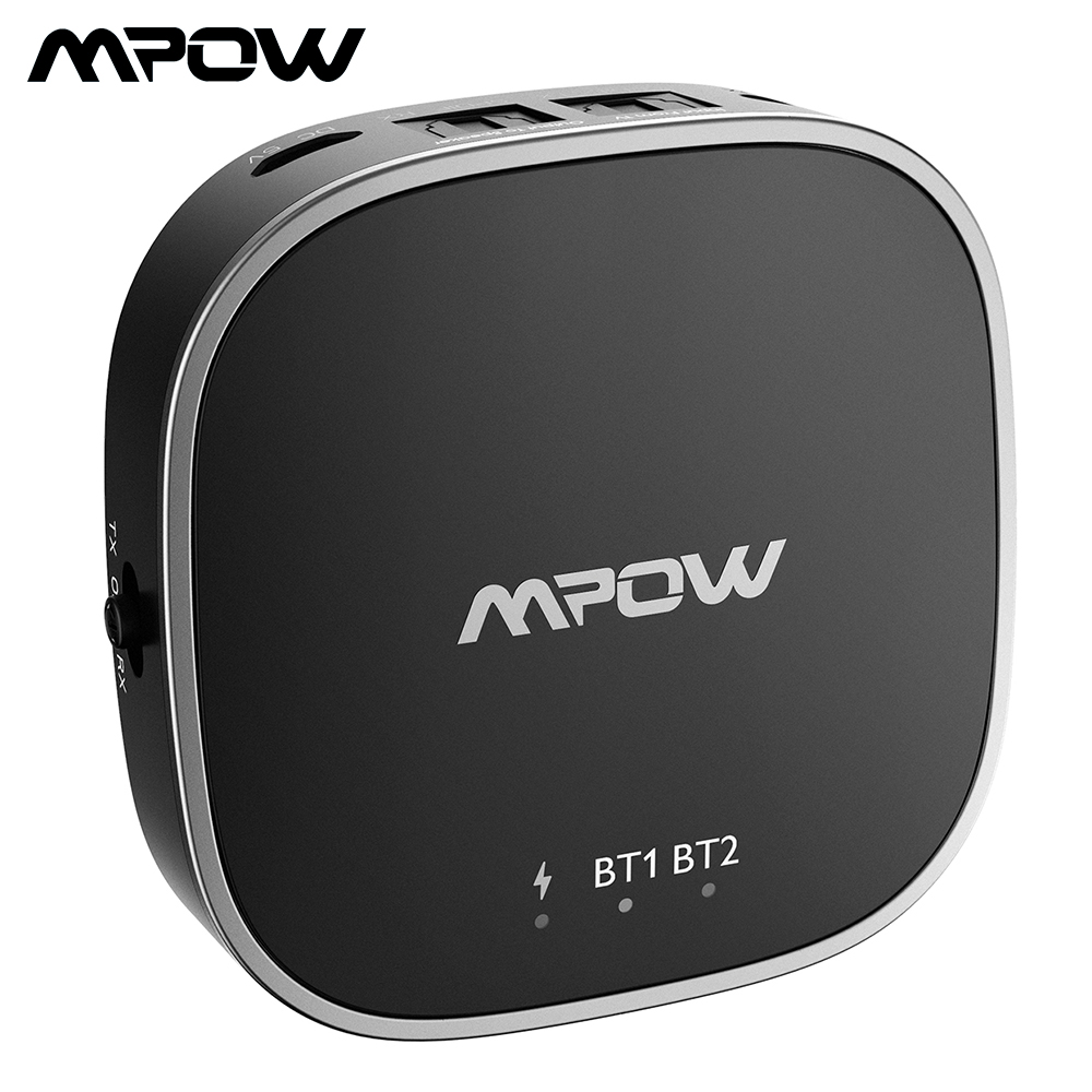 Mpow Bluetooth 5.0 Transmitter Receiver APTX/APTX HD/APTX LL Wireless Adapter With Digital Optical Toslink Aux Cable Connection