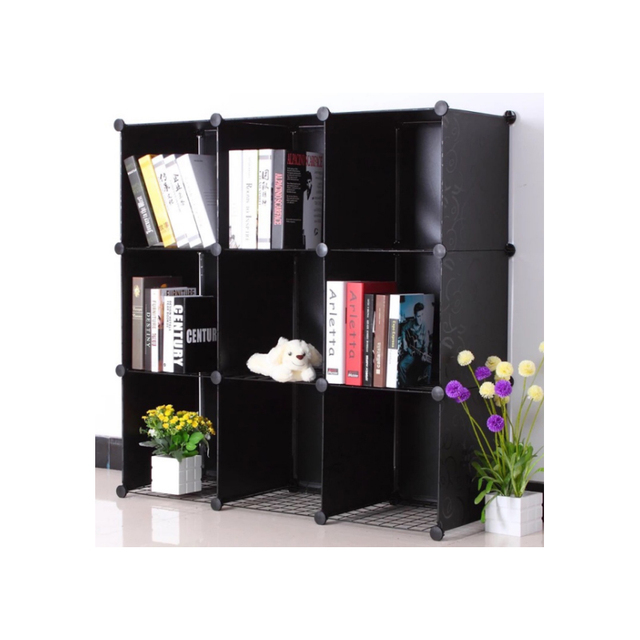 LF Sxsounai 9 grids Cute toy bookshelf wardrobe plastic Resin magic DIY environmental storage box toy rack simple Bedroom 2018 1