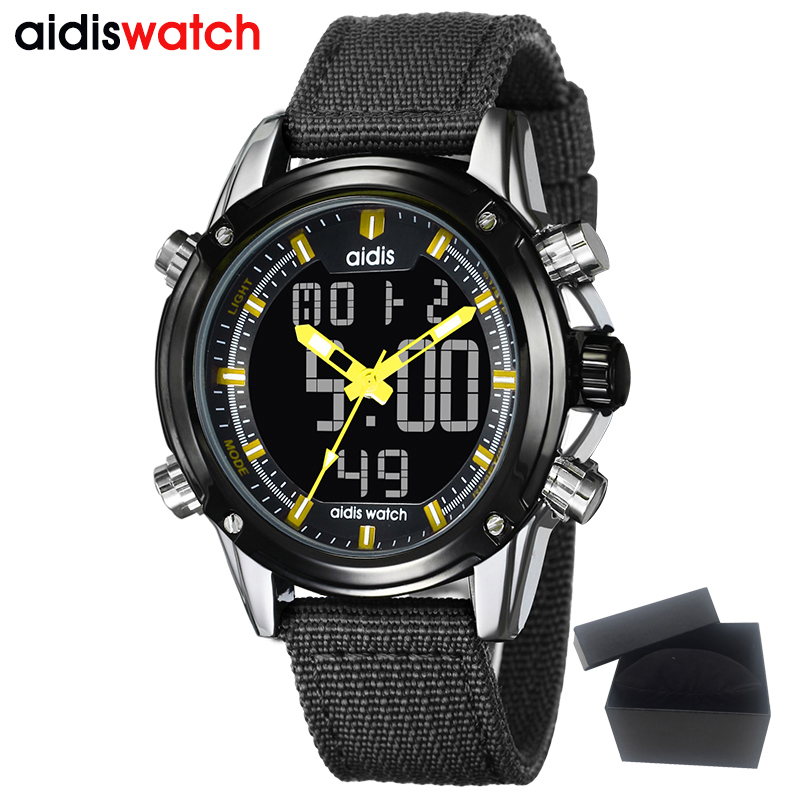 AIDIS Waterproof Digital Watch Sport Military  Men's Casual Quartz Display Wristwatch Alarm Clock Reloj Hombre Electronic women watches wen reloj hombre sport high quality boys girls students time clock electronic digital lcd wrist sport watch 2