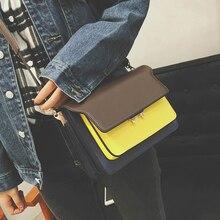 Frauen handtasche fashion bag beiläufigen allgleiches farbblock weiblichen umhängetasche schulter tasche kleine