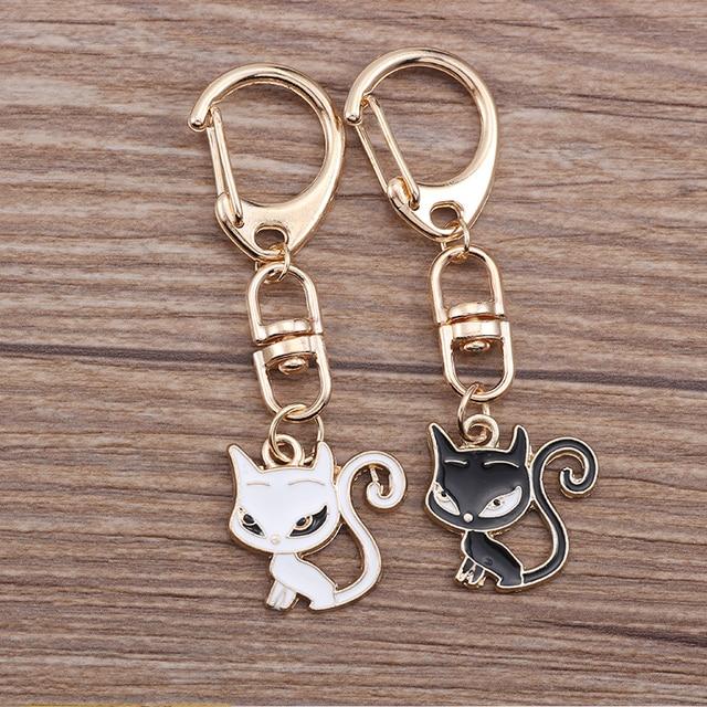 Anime Cartoon Cat Key Chains For Girl Women Cute Fox Mermaid Watermelon Pendants Key Ring Bag Pendant Lovely Jewelry Child Gifts 2