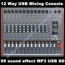 Pro New 12 Way USB Mixing Console 99 digital audio-effect Studio Audio Mixers Mixer Multi-FX Processor MP3 SD