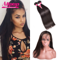 Pre Plucked Frontal 360 Lace Frontal With Bundle Peruvian Virgin Human Hair With Closure,360 Lace Frontal Closure With Bundles