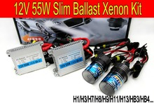 Free shipping High quality 12V 55W hid xenon kit H1 H3 H7 H8 H9 H11 H4