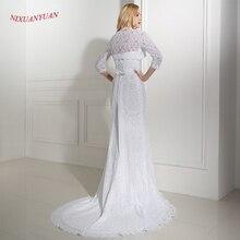 White Lace Mermaid Wedding Dress  With Wedding Jacket