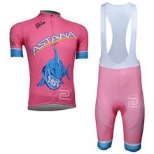 2016 pro team ASTANA Men's cycling Short sleeve jersey Sport Breathable bib shorts sets cheap-clothes-china maillot ciclismo