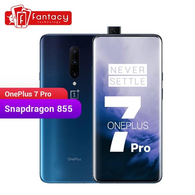 New Global ROM Oneplus 7 Pro 6GB 128GB Smartphone 48MP Cameras Snapdragon 855 6.67 Inch Fluid AMOLED Display Fingerprint UFS 3.0