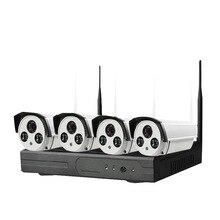 DHL Frete grátis fácil plug & play 960 P VGA/HDMI 4CH NVR KIT wi-fi, Wireless nvr 30-50 m sinal, P2P 960 p WIFI Câmera IP À Prova D' Água