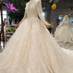 Image 3 - Aijingyu trem longo vestido de luxo mais novo pérola contas plus size rendas boho chique simples vestidos de casamento e casamento das mulheres vestidos