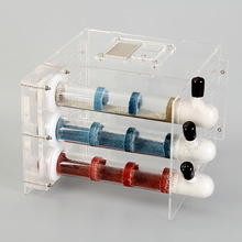 3Pcs Concrete Bright Bamboo Colorful Glass Tubes Transparent Ants Nest Castle Workshop Kids Science Class Abservation DIY Toys