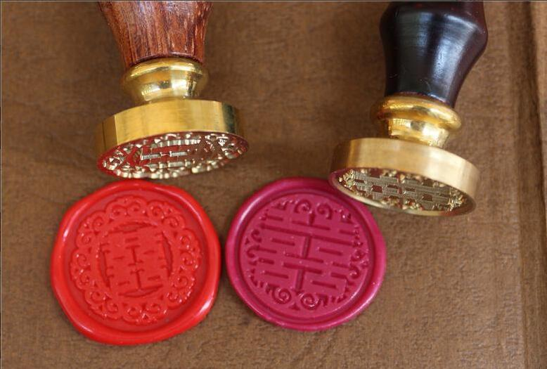 1x Wax Seal Stamp Decorative Chinese Double happiness sealing stamp, Envelope seal DIY wax seal wedding stamp vintage seal ovevo s9 wired in ear earphones mint green