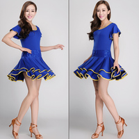 2017 New Women Square Dance Costumes Summer Autumn Suits Latin Dance Dresses Skirts Dancing Clothing Women