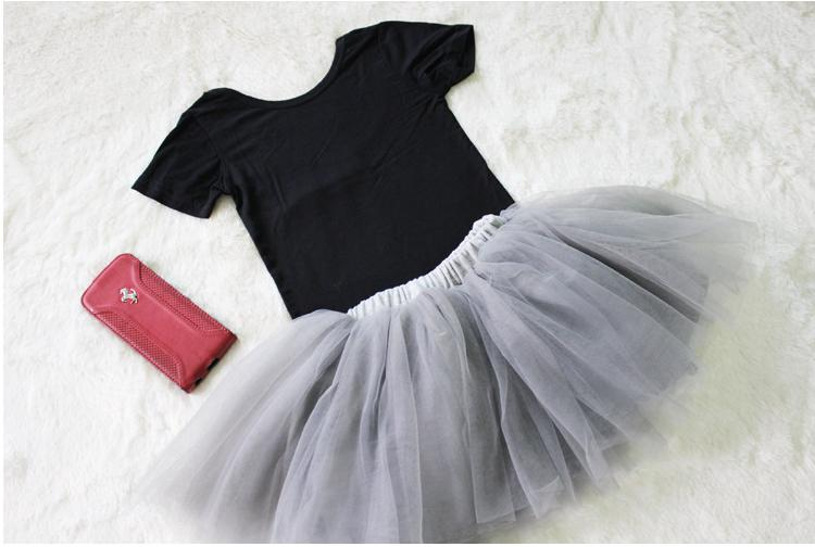 2017 Girls Kids Gray Black Pettiskirts Baby Girl TUTU Skirts Toddler Child Ball Gown Party Skirt 4 Layers Free Shipping In From Mother On