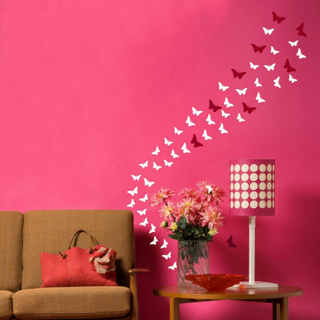 Butterfly Decoration Vinyl 26 colours Available Wall Art Mural ...