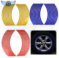 """16 Strips Bike Car Motorcycle Wheel Tire Rim Stickers And Decals Decoration Stickers 14"""" 17"""" 18"""" 4 Color Car Styling Accessories"""