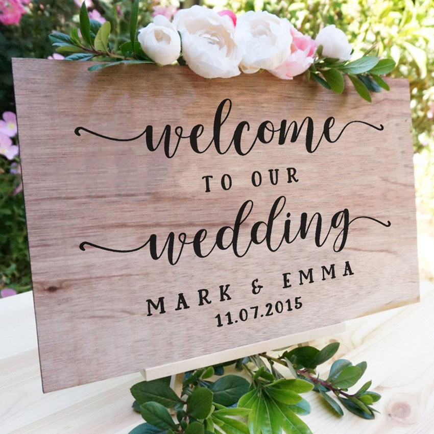 Personalised DIY Sign Couples Names Dates Mirror Plexiglass Wall Sticker Wedding Decoration Beauty Fashion Decals Decor W92 in Wall Stickers from Home Garden