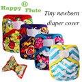 Happyflute recém-nascidos imprimir pul projeto snap ou hook & loop tampa cobertura de pano fralda do bebê