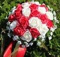 Venta caliente 24 unidades de flor color de rosa 16 colores Artificiales buque de novia Manos Que Sostienen la Flor de Rose de La Boda Ramo de Novia noiva