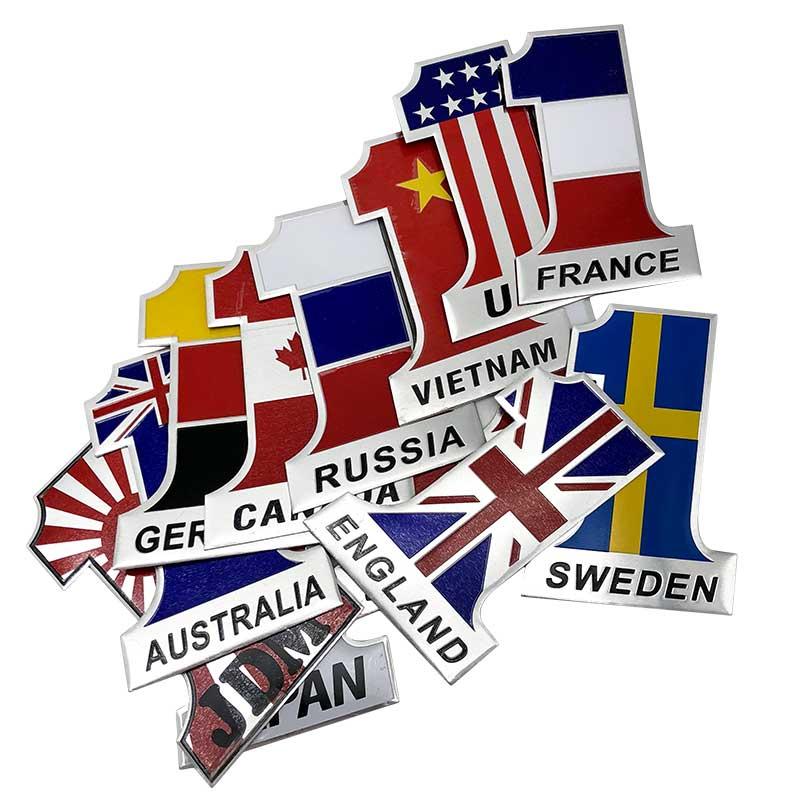 3D Metal USA United States American Flag Map Emblem Car Side Body Sticker Decal