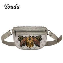 Youda New Original Design Embroidery Chest Bag Fashion Street Pockets Hip Hop Style Unisex Crossbody Bags Classic Waist Pack