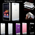 For soni Z case Fashion Luxury mobile phone Cases Metal Aluminum frame Hard plastic Back Cover case For Sony Xperia Z L36H C6603