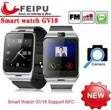 Aplus GV18 NFC Смарт bluetooth watch с Камерой bluetooth наручные часы sim-карты Smartwatch для samsung Android Телефон PK DZ09 GV08