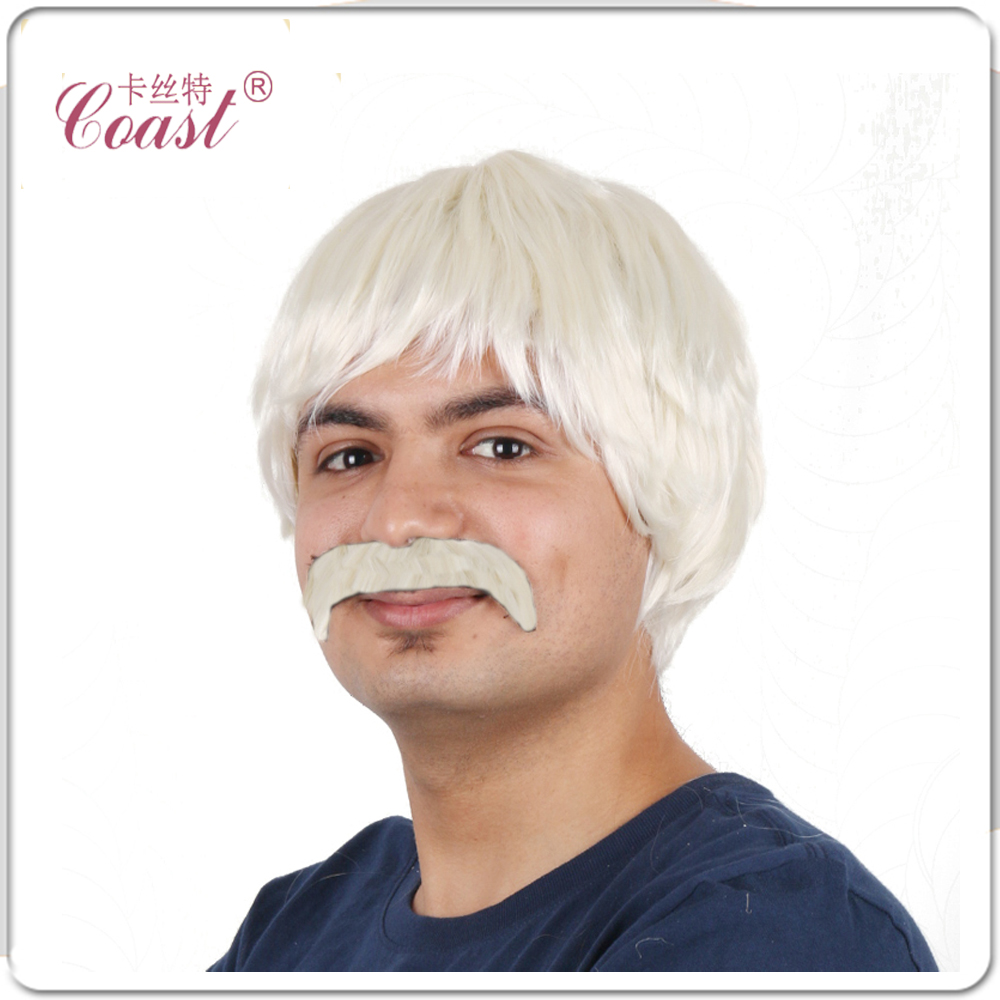 4 120 G Male Wig Blonde Disco Guy Wig Short Synthetic Wigs For