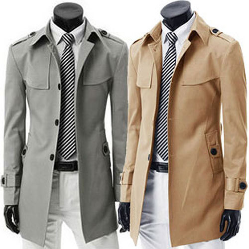 Promotion winter New British style boutique single-breasted men's leisure outercoat mens jackets long dust coat Asia S-XXXL C007