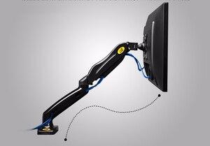 """Image 2 - NB brazo de soporte de Monitor LED F80 + FP 1 para Monitor sin agujero VESA, 17 27 """", resorte de Gas, montaje de puntal de Gas de movimiento completo, carga de 2 6,5 kg"""
