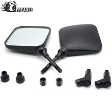 M10 10mm Square Dual Sport Motorcycle Rearview side Mirror Specchi clear glass case for mv agusta vfr 800 suzuki bandit 600