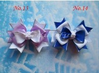Wholesales Hand Customize Free Shipping 40pcs BLESSING Good Girl Boutique 3 5 Snowflake Hair Accessories Bow