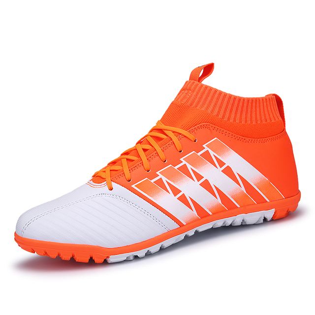 4900c7c087a Men s Soccer Shoes Indoor TF Football Cleats High Ankle Football Boots For Boys  Kids Men Sports Sneakers Size 33-44