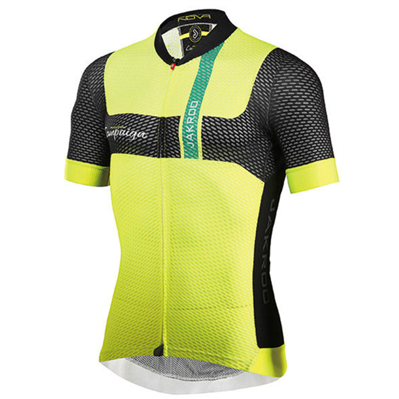 Jakroo NOVAAP Men's Short Sleeves Cycling Jersey Carbon Fiber Mesh Anti-smell Breathable Cycling Clothing Athletic Type Jersey jakroo novaap men s short sleeves competitive model cycling jersey carbon fiber mesh breathable quick dry cycling clothing