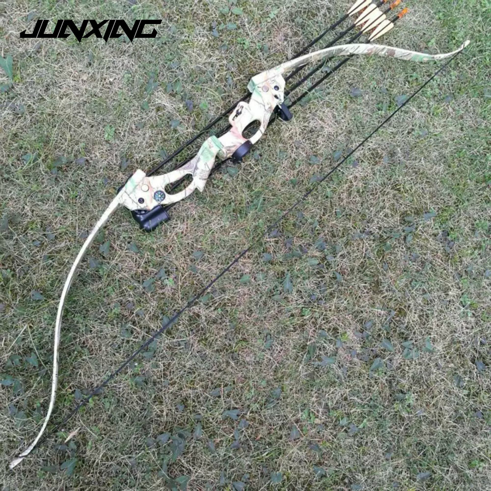 2 Color Recurve Bow 48 Inches Draw Weight 20 Lbs Draw Length 28 Inches for Right Hand User Archery Hunting Shooting recurve bow draw weight 15 lbs bow for children archery training toy games for practice