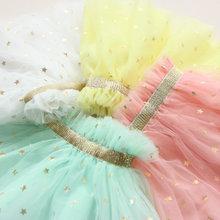 20156 Baby Girls Tutu Skirts Children Girl Golden Belt Stars Sequined Skirt Child Princess Summer Clothing 1pc