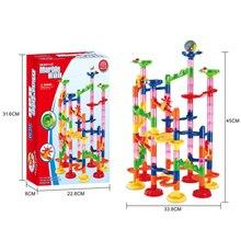105 PCS Bead model Building blocks Construction Marble Run ball Roller coaster toy Marble Race Run Maze Ball Toys for children