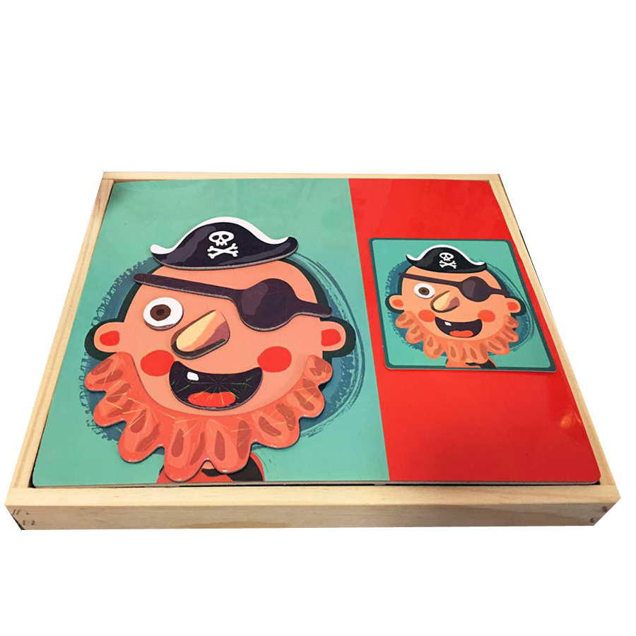 Children Kid Wooden Magnetic Puzzle Toys Games Educational Kids Wood Toy Jigsaw Puzzle Box Brain Teaser Speelgoed Hout 60D0049 3d wooden brain teaser puzzle colorful iq mind educational wood game toys for children adults