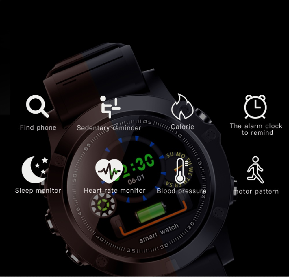 696 L11 Men Smart Bracelet Heart Rate Blood Pressure Fitness Tracker IP68 Waterproof Smart Watch for Android IOS smart phone 2