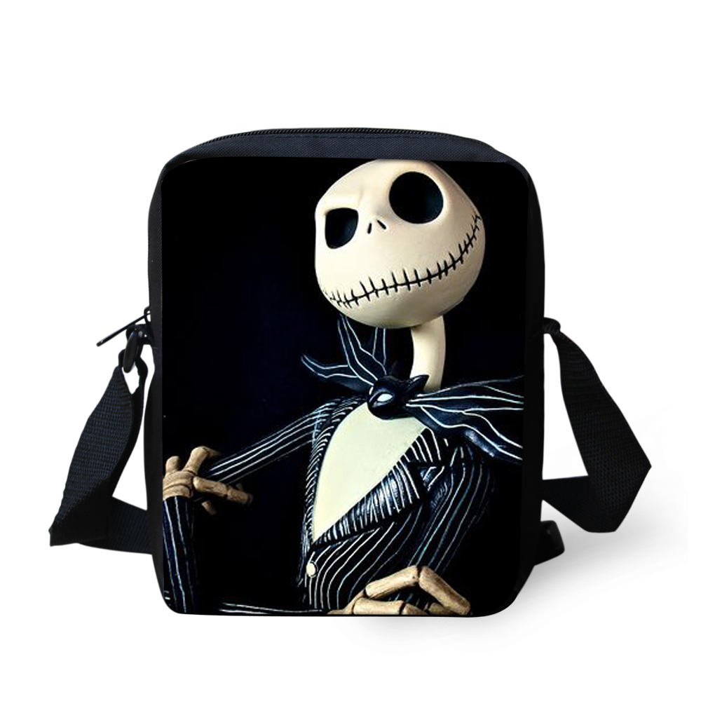 FORUDESIGNS The Nightmare Befor Christmas Bag Jack Skellington Style 2018 New Crossbody Book bag Halloween Casual Case Kid Gift new animation tim burton the nightmare before christmas jack skellington bobble head cute 11cm action figure href