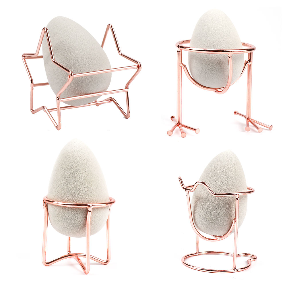 Free Shipping Makeup Beauty Egg Powder Puff Sponge Display Stand Alloy Drying Holder Rack Cosmetic Puff Holder Drop Shipping