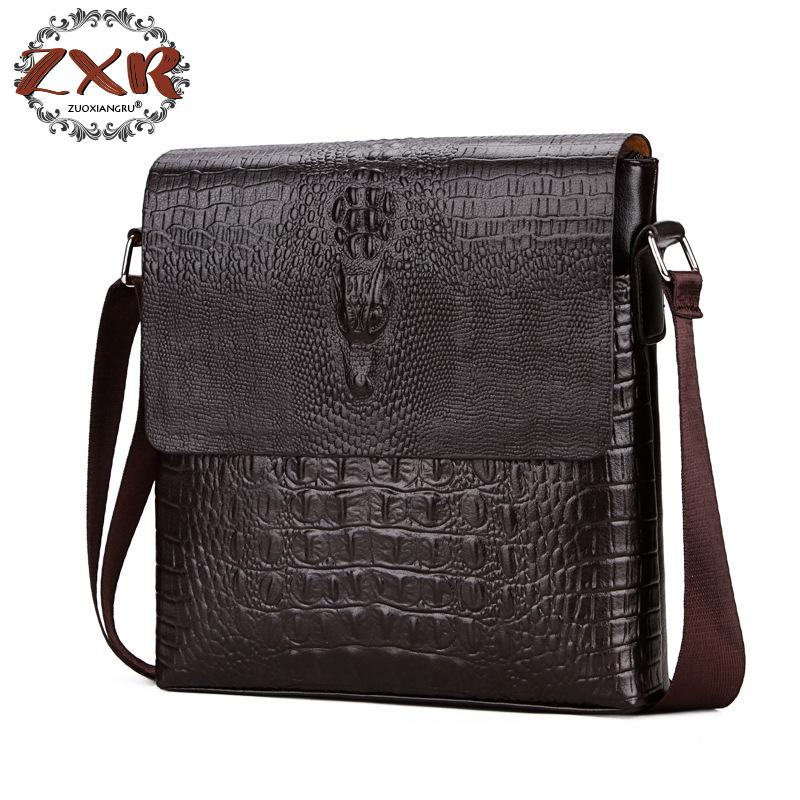 New Arrival Fashion Business Leather Men Messenger Handbags Promotional PU Leather Small Crossbody Shoulder Bag Casual Man Bag
