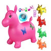 50 см Ездовые игрушечные животные с музыкой и светодиодные Сияющий прыжки лошадь с насос хорошее качество без вреда для ребенка хороший пода...
