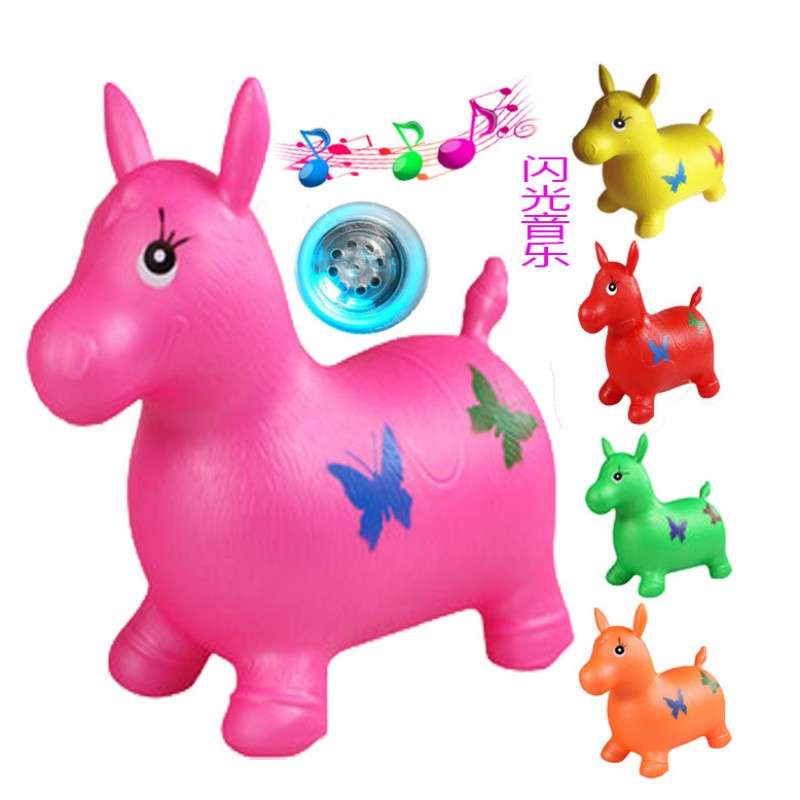 50cm Ride On Animal Toys with music and led shining Jumping horse with pump good quality ...
