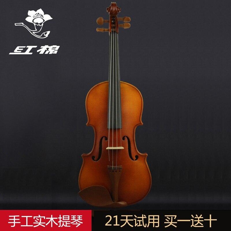 Di Cotone Rosso Violino V386 Grado Esame Violino Principianti Professionale Di Qualità In Legno Massello Per Bambini Fatti A Mano Violino Adulto