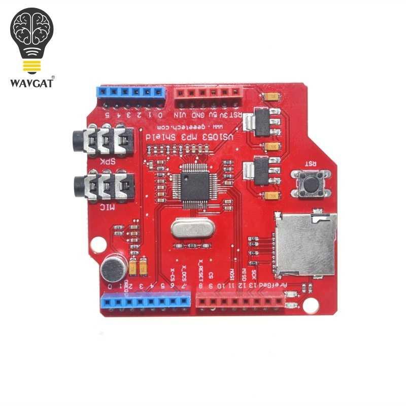 WAVGAT VS1053 VS1053B Stereo Audio MP3 Player Shield Record Decode  Development Board Module With TF Card Slot For Arduino UNO R3